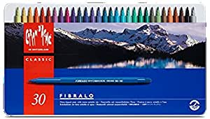 Caran D'ache Fibralo Fibre Pens in Metal Box (Pack of 30)
