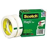 Scotch Magic ruban adhésif de bureau avec 7,6cm Core, 3–10,2x 6583,7cm–Lot de 2