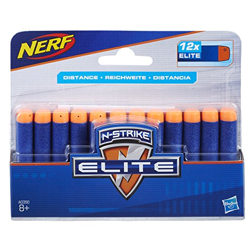 Hasbro Nerf A0350EU4 -N-Strike Elite 12er Dart, Nachfüllpack (Smart Darts)