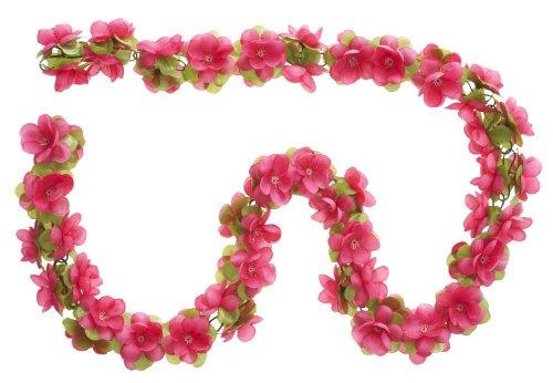Blumengirlande fuchsia ~ ca. 130 cm ~ zum verschönern Ihres Fahrrades z.B. für Fahrradkorb , Lenker oder Ihrer Wohnung