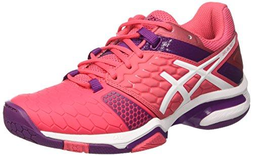 Asics Damen Gel-Blast 7 American Handball Schuhe, Mehrfarbig (Rouge Red/White/Prune), 41.5 EU