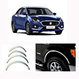 #4: AutoPop Imported Stainless Steel Fender Chrome Protector for Maruti Suzuki Dzire 2017 Above