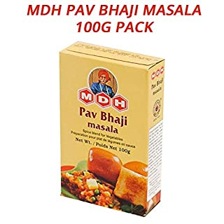 MDH Pav Bhaji Masala | North Indian Spice Blend | Perfect for Vegetables | Sprinkle Over Cooking for Aroma & Spice | Vegan | 100g Pack