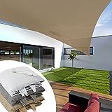 Voile d'ombrage triangulaire casa pura® balcon, pergola, jardin   polyéthylène, résistant   triangle, anti uv - 3x3x3m, sable