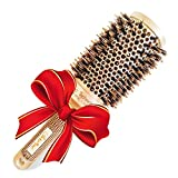 Best Blow Dry Round Hair Brush with Natural Boar Bristles for blowouts (2 inch)- Get Natural Shiny & Healthy hair with this professional salon quality hairstyling tool