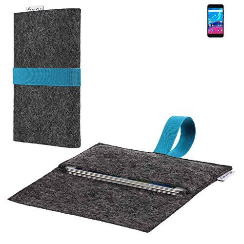 flat.design vegane Handy Hülle Aveiro für Archos Core 50P passgenaue Filz Tasche Case Sleeve Made in Germany