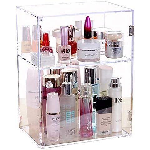 XL® Grande scatola di immagazzinaggio cosmetica con porta trucco acrilico di dialogo Libreria rangement maquillage rouge un F025 levres