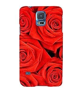 FUSON Beautiful Red Roses Background 3D Hard Polycarbonate Designer Back Case Cover for Samsung Galaxy S5 :: Samsung Galaxy S5 G900I :: Samsung Galaxy S5 G900A G900F G900I G900M G900T G900W8 G900K