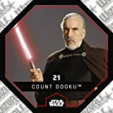 Rewe STAR WARS Cosmic Shells Normal 21 Count Doku (21 Count Dooku) + WIZUALS STICKER