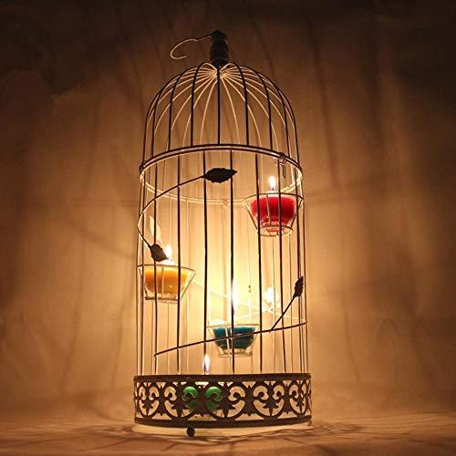 Fzwang Kerzenhalter Handwerk Dekoration Farbe Windlicht Halloween Dekoration Eisen Kunst Kerzenhalter 19 × 48cm (Halloween Handwerk Kerzenhalter)
