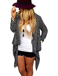 FEITONG mujeres Algodón tejido calientes Chaqueta de la rebeca Outwear Tops