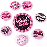 Generic Hen's Party Bride To Be Badge Set 8Pcs