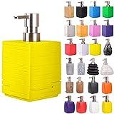 Sanilo Seifenspender | viele schöne Seifenspender zur Auswahl | modernes, Stylisches Design | Blickfang für jedes Badezimmer (Calero Yellow)