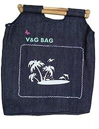 Multipurpose Washble Denim Grocery Bag/Fruit Vegetable Bag/General Use Bag/Shopping Bag/Luggage Bag | DCLW00-6
