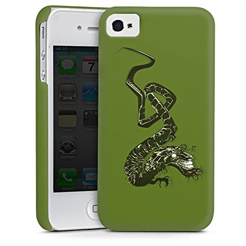 Apple iPhone 4 Housse Étui Silicone Coque Protection Dragon Tribal Chinois Cas Premium mat