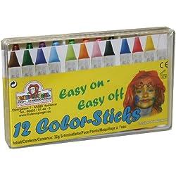 box Eulenspiegel - Caja de 12 pinturas maquillantes de cara - 12 x 32 g