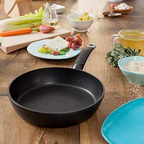 Fissler Protect Alux Premium Sartén Antiadherente, 28cm, para Todo Tipo de cocinas, Aluminio Forjado, Negro, 28 cm