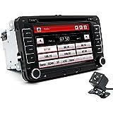 junsun 7 pouces Autoradio VW 2 Din HD Car GPS DVD Bluetooth voiture stéréo FM Radio MP5 lecteur USB/TF Aux entrée écran tactile système de divertissement de voiture