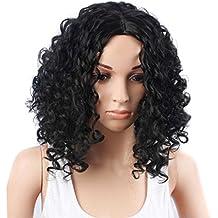 Perruques Europe et les États-Unis mode de la soie de la fibre chimique des femmes noires africaines à haute température en petits morceaux de perruques