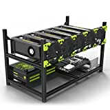 Aluminum 6 GPU Mining Case Rig Open Air Frame For ETH/ETC/ ZCash
