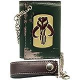 Star Wars Boba Fett Metal Badge Chain Billetera