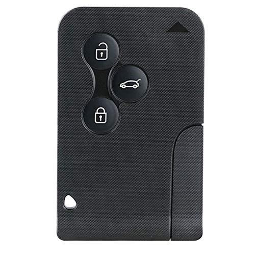 Smart Card a 3 pulsanti con inserto portachiavi piccolo per Renault Megane Scenic (colore: nero)