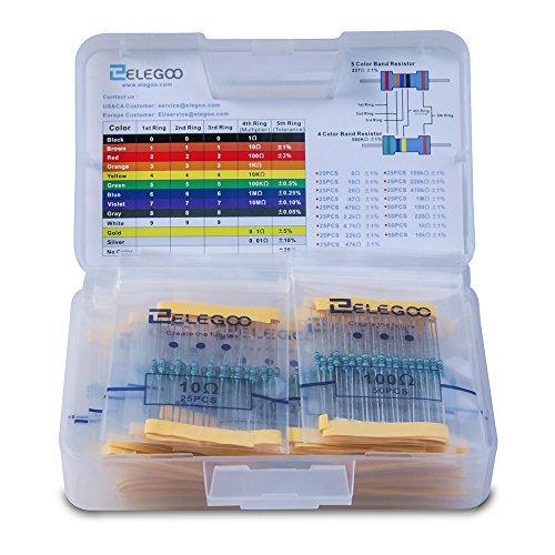 Elegoo 17 Values 1% Assortiment de Kit de Resistor 0 Ohm-1M Ohm (Pack of 525) avec Boîte en Plastique pour Arduino et Projet Expérimental