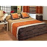 Edredón Conforter Mirfa Color Marrón Tamaño Cama 150