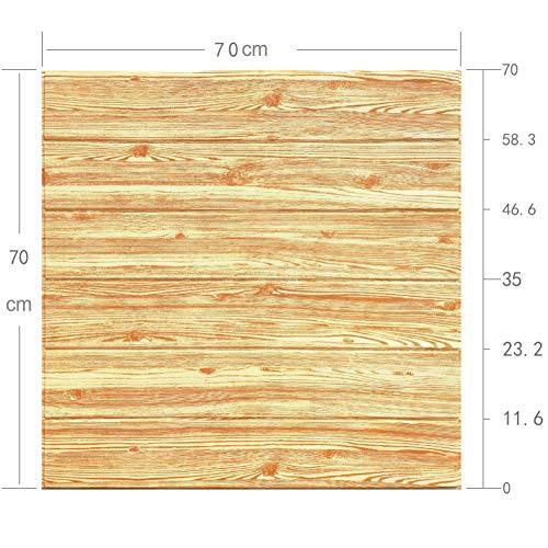 HX stickers 5 pièces Mousse xpe 3D Bois texturé 3D Wallpaper DIY, Auto-adhésif Arrière-Plan Autocollants Anti-Collision Décoration de Mur pour Salon Chambre-A