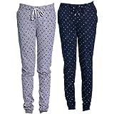VIMAL Women's Cotton Trackpants - Set of 2