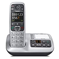 Gigaset E560A Cordless DECT Telephone with Hearing Aid and Answering Machine - Silver