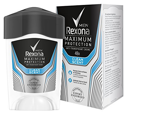 Rexona Men Deo Cremestick Maximum Protection Clean Scent Anti-Transpirant, 1er Pack (1 x 45 ml)