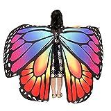 MRULIC Kinder Schmetterlingsflügel Jungen und Mädchen Kostümzubehör Weihnachten Trenchcoat Im Freien Drachen Fliegen Mantel Schal Damen Poncho Karneval heißen Jacken(C-Hellblau,136 * 108CM)