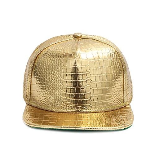 Imagen de cusfull  de béisbol hip hop estilo orra de béisbol plana del borde con la muestra religiosa del metal del elemento oro  alternativa