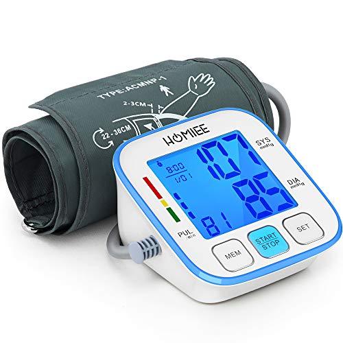 Tensiomètre Électronique Bras, HOMIEE Professionnel Tensiomètre Numérique Mesure automatique, Écran LCD...