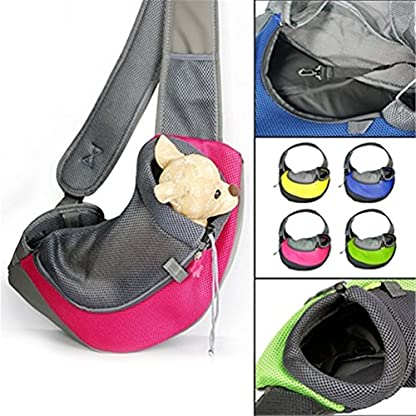 bismarckbeer Pet Sling Carrier for Chihuahua Puppy Dogs Kittens Travel Outdoor Mesh Shoulder Bag Pouch 3