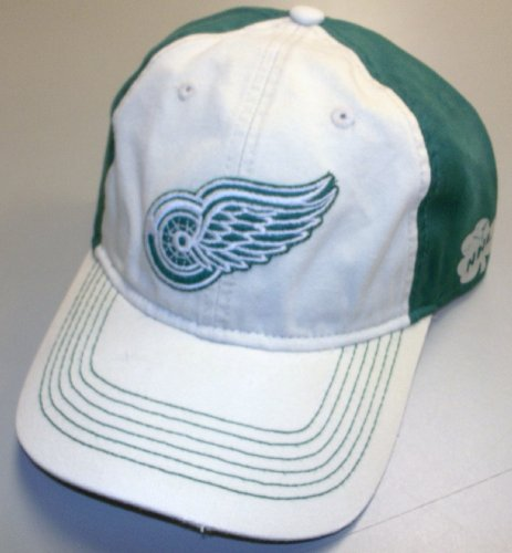 Reebok Detroit Red Wings Putty/Green Slouch Strap Back Hat - EP08Z Red Slouch Hut