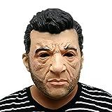 La tête de masque de masque Logan Hugh Jackman de Wolverine X-Men fabriquée en latex de très haute qualité avec des ouvertures pour les yeux Carnaval de Halloween Costume de costumes pour adultes Hommes et femmes Hommes Femmes Creepy Creep Zombie Monster Demon Horror Party Party