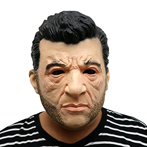 X Erwachsene Für Men Kostüm - thematys The Wolverine X-Men Hugh Jackman Maske - perfekt für Fasching, Karneval & Halloween - Kostüm für Erwachsene - Latex, Unisex Einheitsgröße