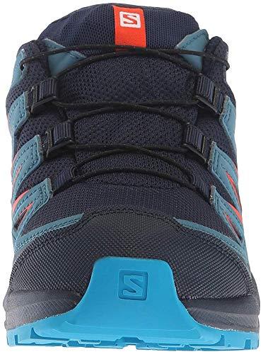 Salomon Kinder XA Pro 3D CSWP J, Trailrunning-Schuhe, Wasserdicht, blau (navy blazer / mallard blue / hawaiian surf), Größe 30