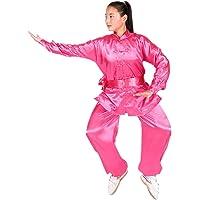 BOZEVON Manche Longue Unisexe Tai Chi Costume Arts Martiaux Kung FU Shaolin Vêtements, Blanc
