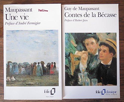 2 titres : Une vie - Contes de la Bécasse --Folio-- par Guy de MAUPASSANT