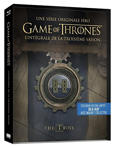 Game of Thrones (Le Trône de Fer) - Saison 3 - Edition limitée Steelbook - Blu-ray - HBO [Édition collector boîtier SteelBook + Magnet]