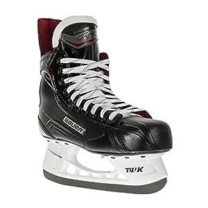 BAUER –  Vapor X400 Senior Eishockeyschlittschuhe für Herren I Herrenschlittschuh I Profi-Schlittschuhe mit Fersen- & Knöchelunterstützung I Mittelfuß-schutz I speziell wärmendes Fußbett – Schwarz