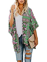 f0023da848251d Frühling Herbst Damen Ethno Druck Poncho Mode Schal Wrap Cardigan Coat  Umhang Tops Pulli Casual Cape