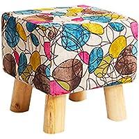 Preisvergleich für Wooden stool Fußhocker Cute Cube Ändern Schuhe Bank Sofa Hocker Massivholz Hocker Bank Hocker mit 4 Holzbeinen Tatami Hocker im Wohnzimmer Schlafzimmer 30CMX30CM