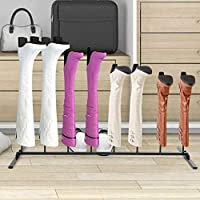 GOTOTOP Practical Boot Rack, Walking Boot Rack, Shoe Boot Storage Rack Holder Stand, Black, Stylish Holds 4 Pair of Boots for Indore & Outdoor Use, 87x46x30cm