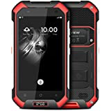 Blackview BV6000S 4.7 Zoll 4G-LTE-Smartphone Android 7.0 Quad-core 1.3 GHz Dual SIM HD Screen 2GB RAM 16GB ROM 13MP + 5MP Dual Kamera Wasserdicht Staubdicht Stoßfest outdoor Handy ohne vertrag 4500mAh Akku NFC GPS Wifi Kompass Rot