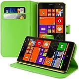 kwmobile Elegante funda de cuero sintético para el Nokia Lumia 1320 con cierre magnético y función de soporte en verde