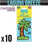 California Car Scents Laguna Breeze zum Aufhängen Palm Tree Lufterfrischer X 10
